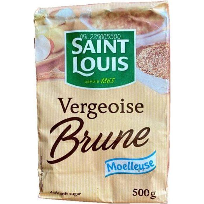 Sucre vergeoise brune - Saint Louis - sachet 500g