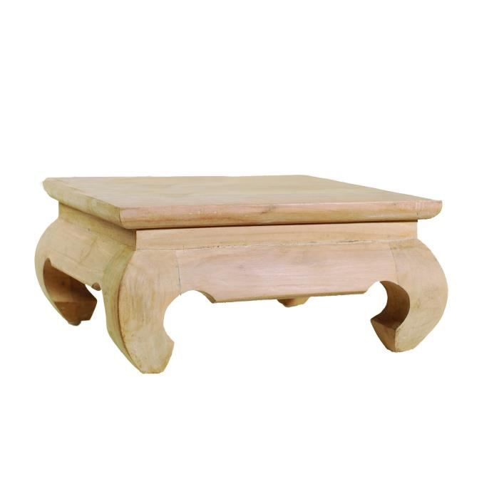 DIANE Mini table opium ethnique en teck - L 30 x l 30 x H 13 cm