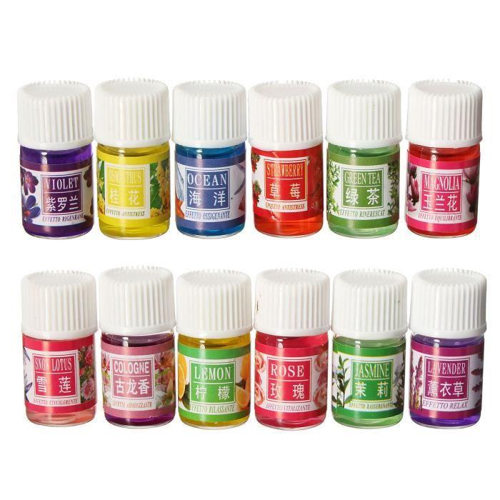 12Pcs Huile Essentielle Pure Naturelle Aromathérapie Diffuseur