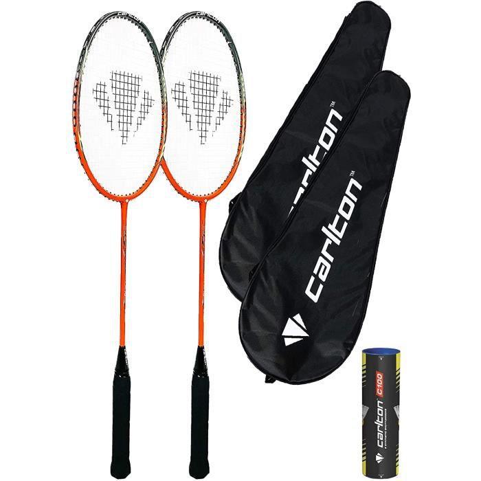 Carlton Airblade Tour Lot de 2 raquettes de badminton avec housses de protection et volants