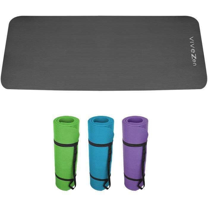 TAPIS DE YOGA en reg Tapis de yoga de gym dexercices 180 x 60 X 12 cm sac de transport 4 coloris Norme CE105