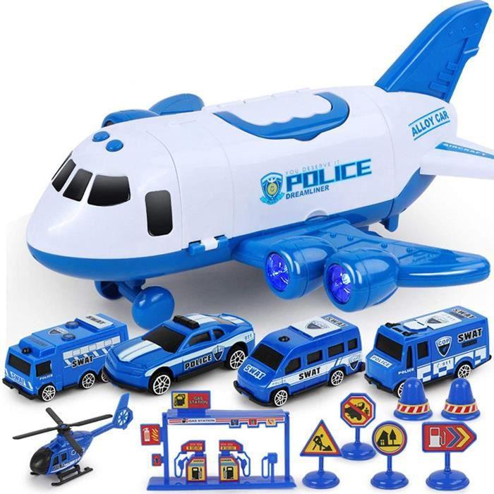 VEHICULE MINIATURE ASSEMBLE ENGIN TERRESTRE MINIATURE ASSEMBLE Horypt Ensemble de Jouets de Voiture avec Avion de Transport, A527