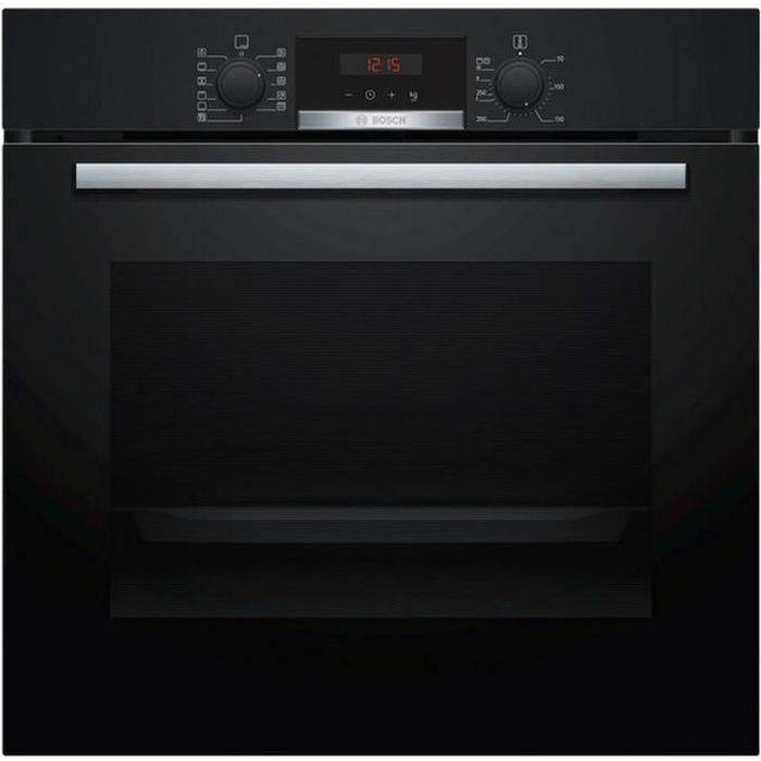 Bosch - four intégrable multifonction 71l 60cm a pyrolyse noir - hba174ea0