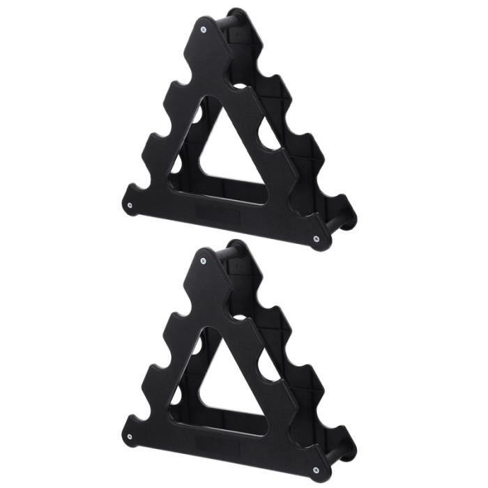 2 Pièces durables Haltere Présentoir Rack Halte de Stockage Stand Support Fitness barre - haltere - poids fitness - musculation