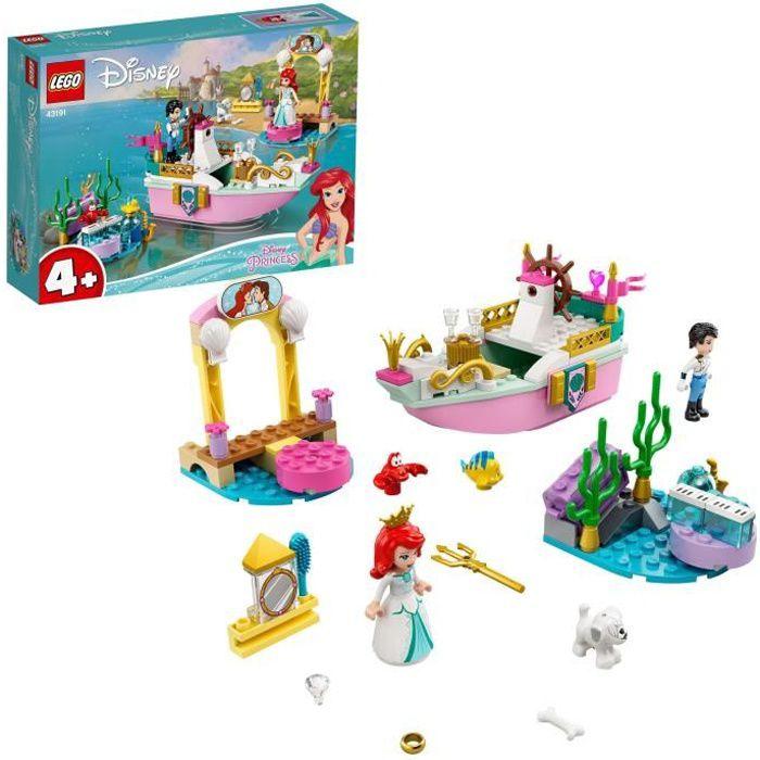 LEGO® Disney Princess™ 43191 Le bateau de mariage d'Ariel, La Petite Sirène Jouet pour les enfants de 4 ans et plus