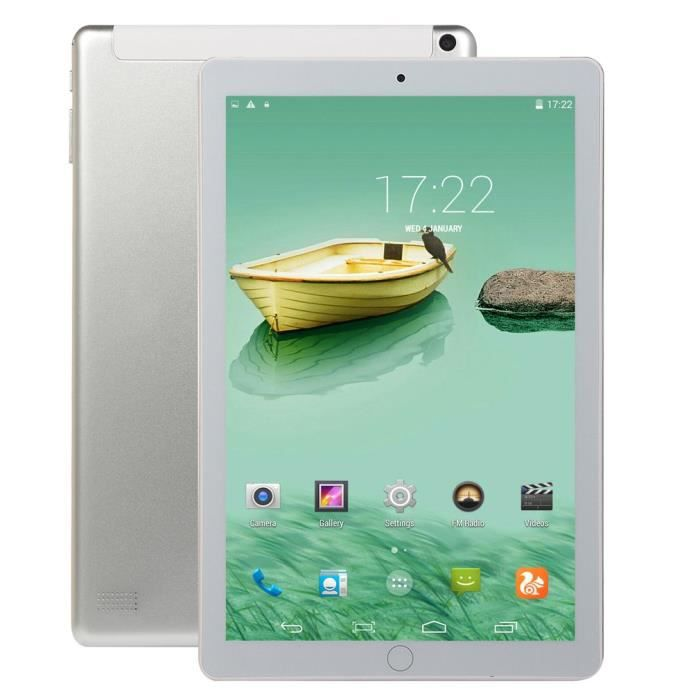 10.1 pouces tablette Pc 4G + 64G Android 8.1 suuport double carte argent
