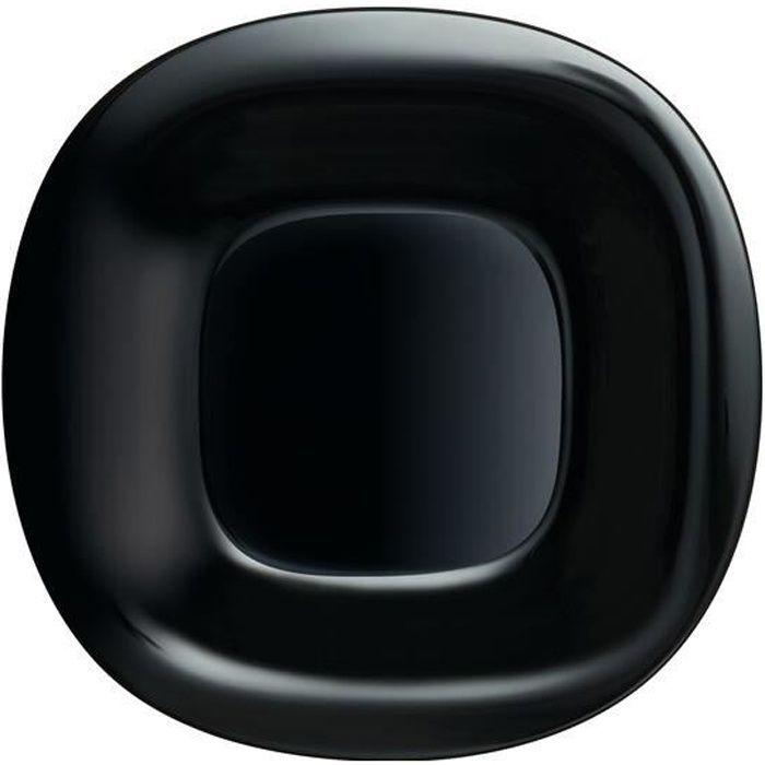 Assiette plate noire 26 cm - Carine Noir - Luminarc