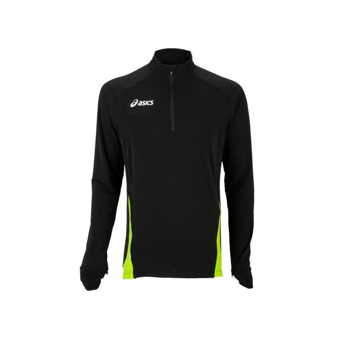 Maillot de running Javier noir ml tee run