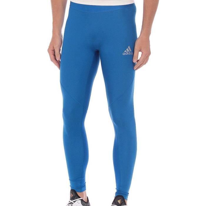 Collant de running bleu homme Adidas Alphaskin