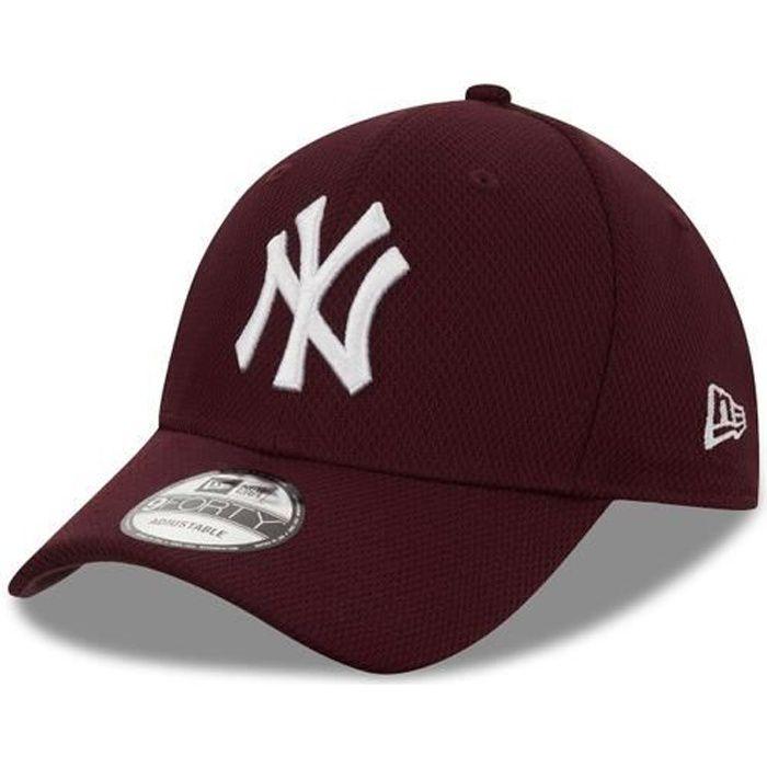 Casquette New Era Diamond Era 9forty New York Yankees Mrnwhi - rouge bordeaux/blanc - TU