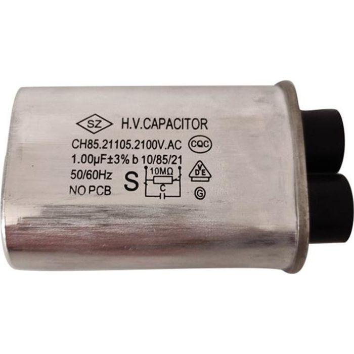 Ch85 Condensateur de four à micro-ondes haute tension 1,23 UF-argent
