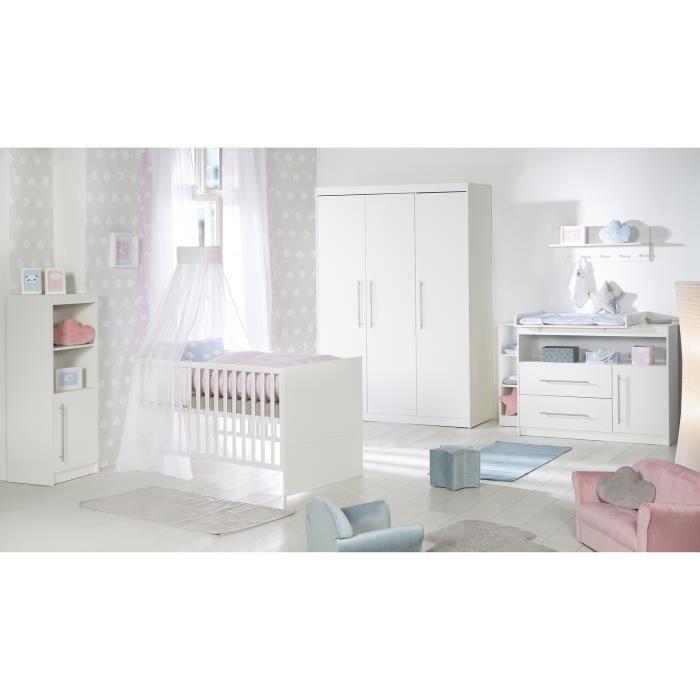 ROBA Ensemble de chambre -Maren-, incl. lit bébé 70x140 cm, commode large et armoire à 3 portes