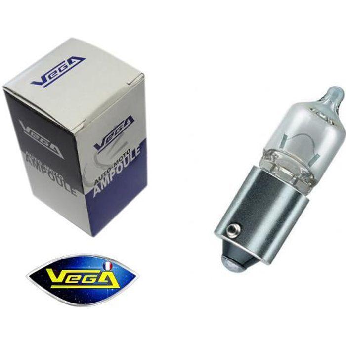 Ampoule Vega® H6W BAX9S T10 haute luminosité 125lm Halogène -Maxi- 12V