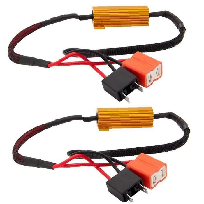 Résistance à LED résistance de la charge CANBUS Decoder H7 50W 6OHM Erreur anti-scintille Hyper Flash Hyper Flash 2pcs