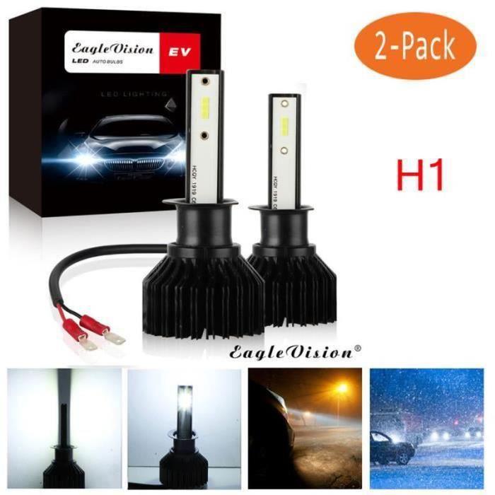 BL07766-2x H1 2000W 30000LM Kit de conversion d'ampoules de phare LED 6000K feux de croisement onee7906