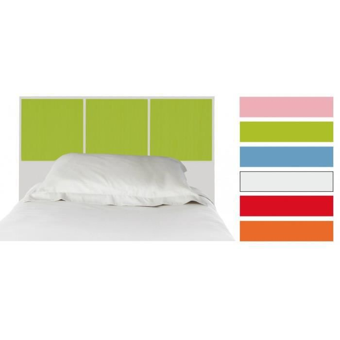 t te de lit enfant h tre laque vert et blanc pour lit 90. Black Bedroom Furniture Sets. Home Design Ideas