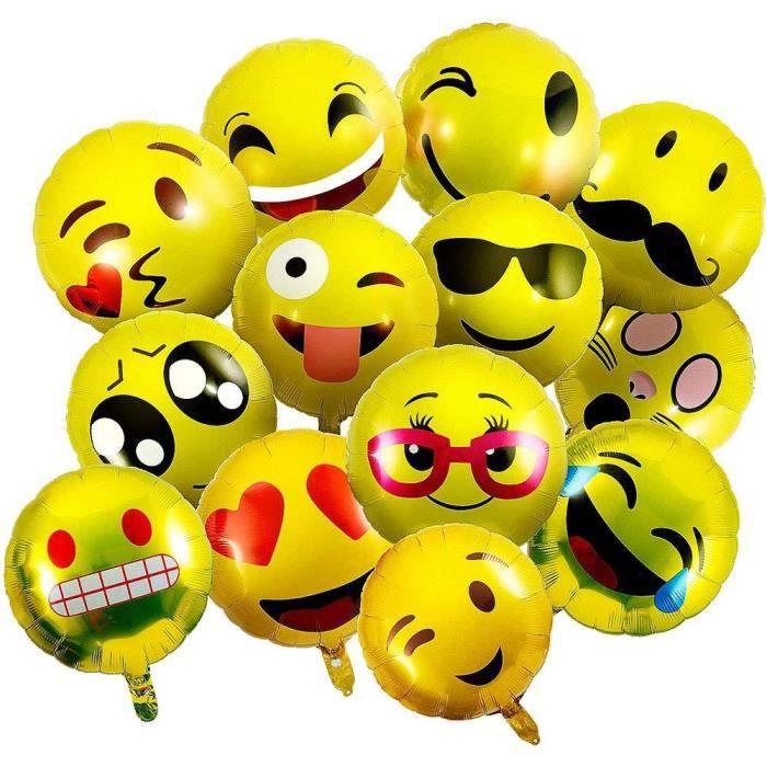 Vientiane Emoji Ballons 26 Pieces Ballon En Aluminium Ballons A L Helium Expression Faciale Ballons Emoticon Smiley Anniversaire Achat Vente Ballon Decoratif Cdiscount