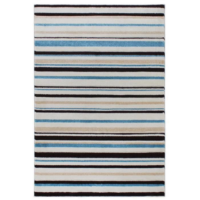 benuta tapis vogue bleu 60x120 cm achat vente tapis cdiscount. Black Bedroom Furniture Sets. Home Design Ideas