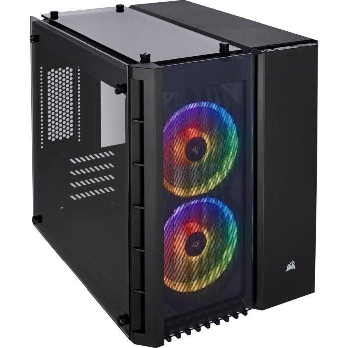 BOITIER PC  CORSAIR Boitier PC Micro ATX en verre trempé Cryst