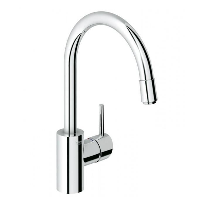 Mitigeur vier grohe concetto 32663 mousseur extractible for Grohe evier cuisine