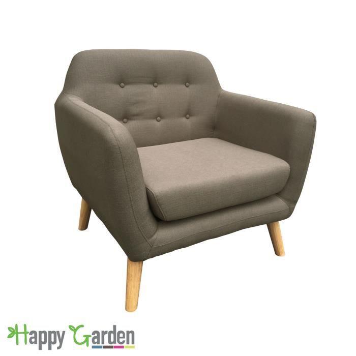 Happy Garden Canap/é Droit Marius 2 Places Taupe