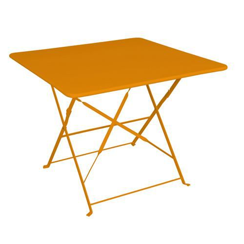 Table de jardin pliante camarque 90x90 cm orange achat for Table cuisine pliante pas cher