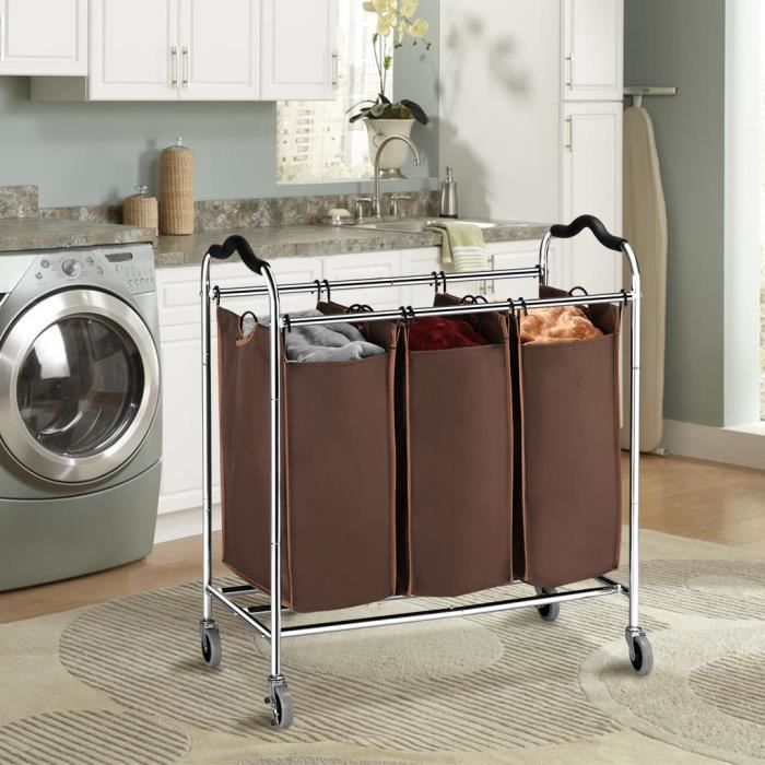 chariot panier a linge achat vente chariot panier a. Black Bedroom Furniture Sets. Home Design Ideas