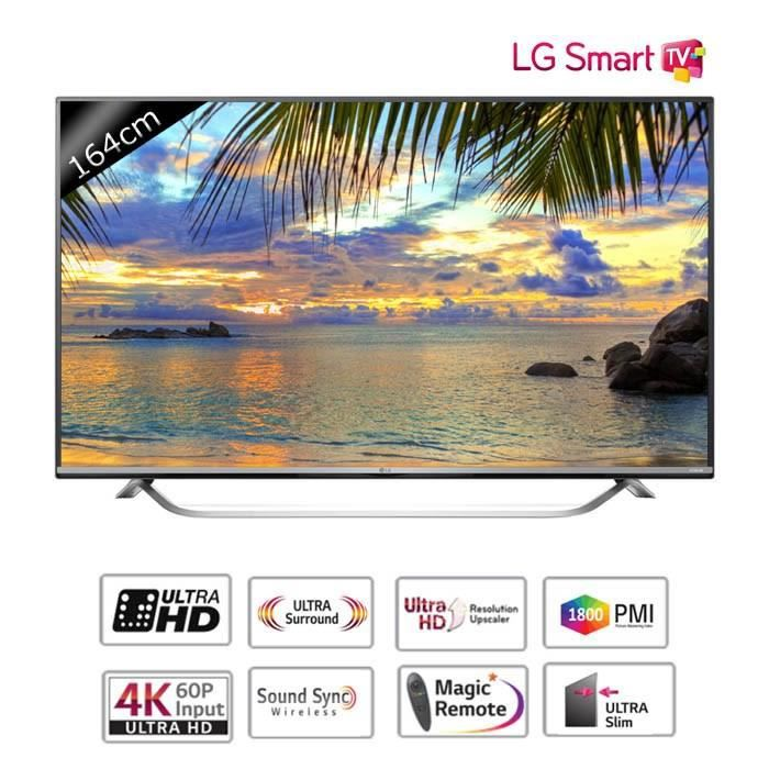 lg 65uf778v smart tv led uhd 4k 164cm t l viseur led. Black Bedroom Furniture Sets. Home Design Ideas