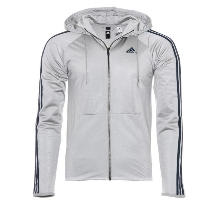 factory outlet wide range new arrive D2M Homme Veste de survêtement Gris argent Adidas