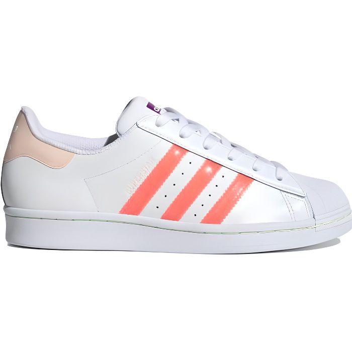 Sneakers en cuir logo fluo Superstar - Adidas -