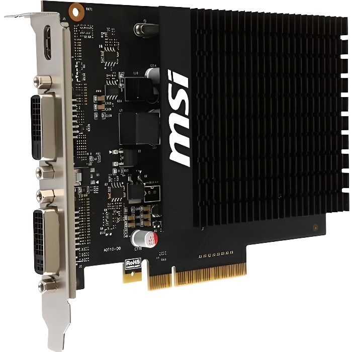 msi carte graphique geforce gt 710 2go ddr3 MSI Carte graphique NVIDIA GeForce® GT 710 GT 710 2GD3H H2D   2 Go