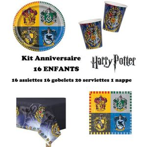 KIT DE DECORATION Kit Harry Potter 16 enfants Complet Anniversaire (