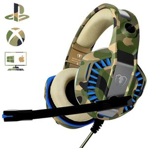 CASQUE AVEC MICROPHONE Casque PS4 Gaming avec Micro, Casque Xbox one Prof