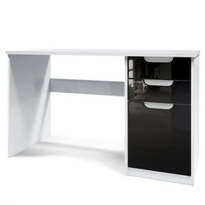 COMMODE DE CHAMBRE Bureau Table informatique Logan- Corps en Blanc ma