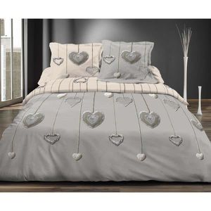 housse de couette coeur achat vente housse de couette. Black Bedroom Furniture Sets. Home Design Ideas