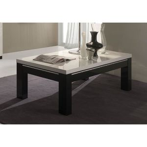 meubles design salle table basse blanc et noir laque. Black Bedroom Furniture Sets. Home Design Ideas