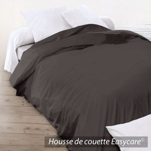 housse de couette 240 x 220 cm unie marron cacao. Black Bedroom Furniture Sets. Home Design Ideas