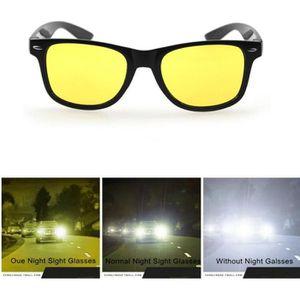 SODIAL R Auto voiture Lunettes Lunettes de soleil Lunettes de conduite de nuit Lunettes de vision de nuit lunettes contraste ideale contre leblouissement en conduite de nuit