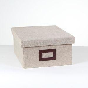 BOITE DE RANGEMENT Boîte de rangement polyester petit modèle Beige Li