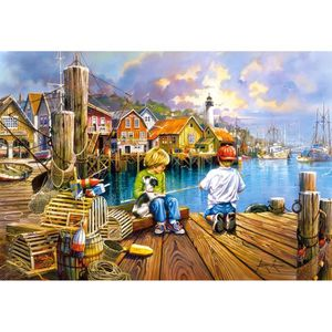 PUZZLE Castorland At the Dock, Jigsaw puzzle, Art, Enfant
