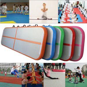 TAPIS DE SOL FITNESS 90*300*10CM Tapis de gymnastique gonflable avec po