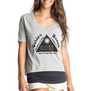 T-SHIRT Tee-shirt 2 en 1 Parson gris Femme Roxy