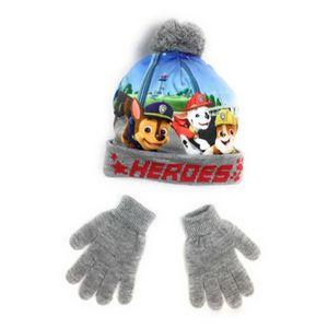 BONNET - CAGOULE Ensemble bonnet pompon + gants La Pat Patrouille g