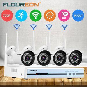 CAMÉRA DE SURVEILLANCE Floureon 4CH Kit de Caméra de Surveillance Sans Fi