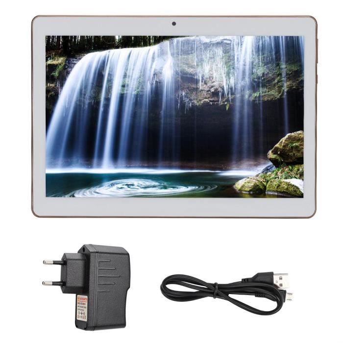 10.1 Hd Tablette double carte Sim double veille deux caméras Bluetooth 4 + 64G pour Android (blanc)