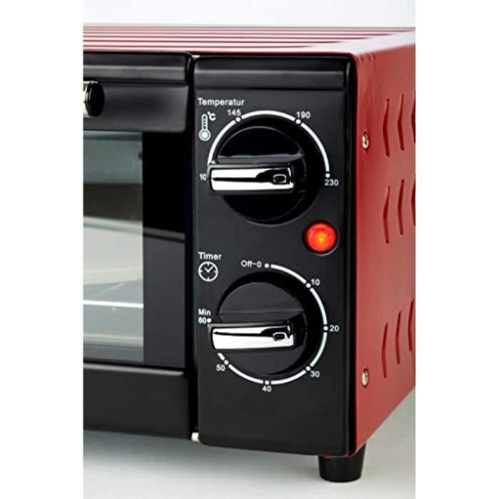 KORONA K57000 Four à pizza Mini-four électrique Noir/rouge 15 L 1300 W