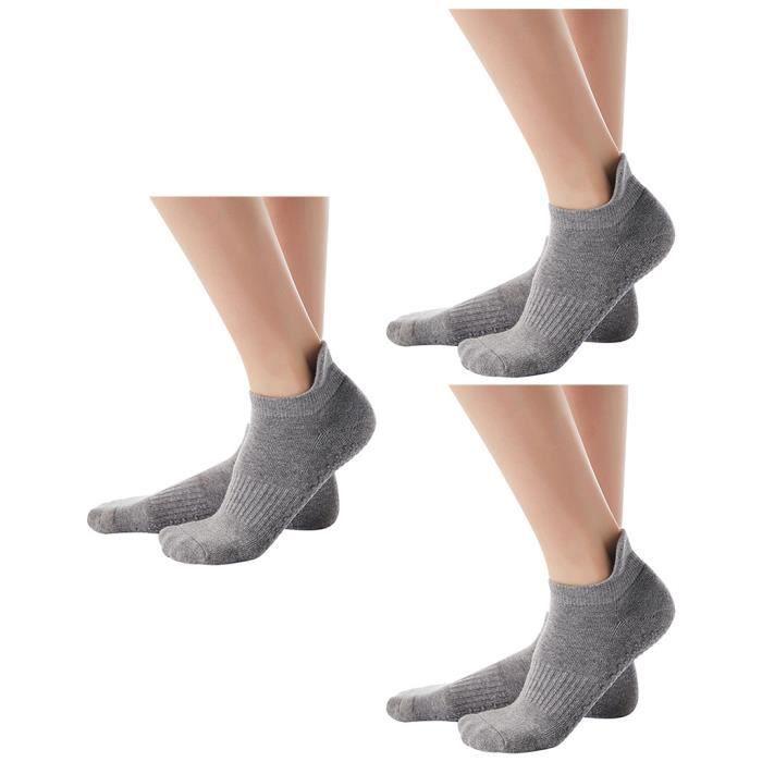 Chaussettes de yoga antidérapantes pour femmes Chaussettes de fitness antidérapantes avec poignées pour femmes YTT90930108A