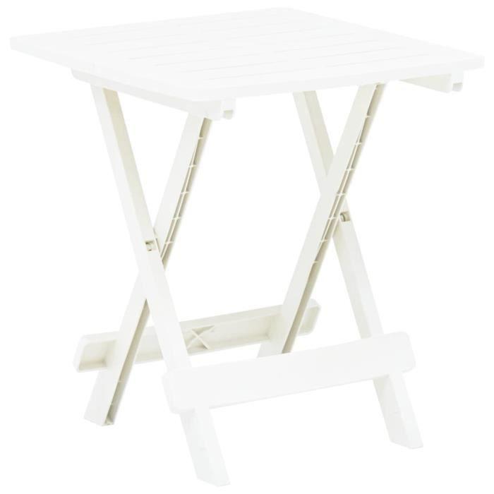 Table pliable de jardin Blanc 45x43x50 cm Plastique -OLL -PAI