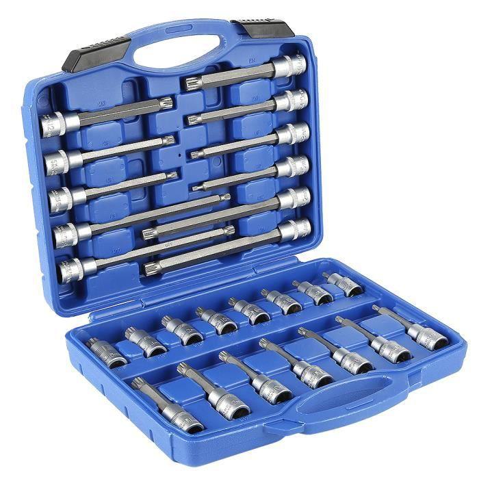 WISS Ensemble de clé à douille embouts hexagonal intérieur longues/courtes- 26 pièces