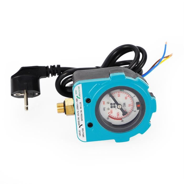 220V 10 bars Automatique Électrique pour Pressostat de pompe à eau Contrôleur